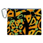 Abstract animal print Canvas Cosmetic Bag (XXL) Front