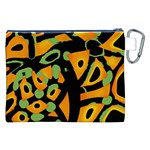Abstract animal print Canvas Cosmetic Bag (XXL) Back