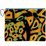 Abstract animal print Canvas Cosmetic Bag (XXXL) Front