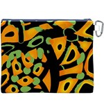 Abstract animal print Canvas Cosmetic Bag (XXXL) Back