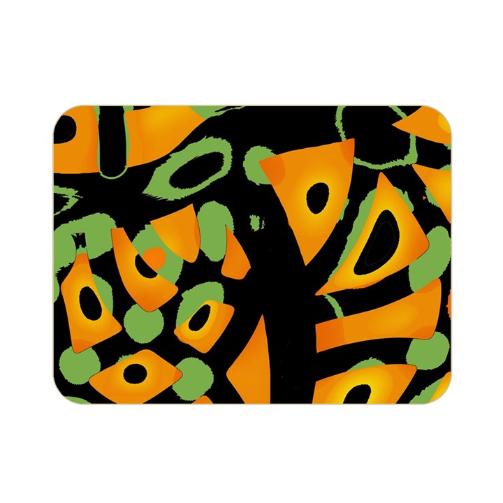 Abstract animal print Double Sided Flano Blanket (Mini)
