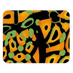 Abstract animal print Double Sided Flano Blanket (Large)  80 x60 Blanket Front