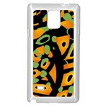 Abstract animal print Samsung Galaxy Note 4 Case (White) Front