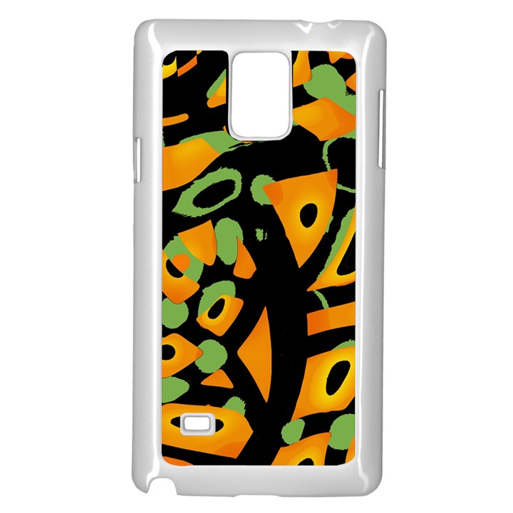 Abstract animal print Samsung Galaxy Note 4 Case (White)