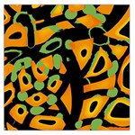 Abstract animal print Large Satin Scarf (Square) Front