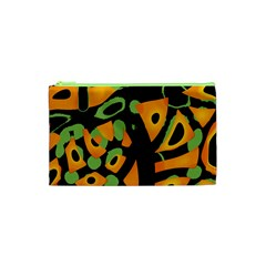 Abstract animal print Cosmetic Bag (XS)