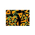 Abstract animal print Satin Wrap Front