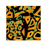 Abstract animal print Small Satin Scarf (Square) Front