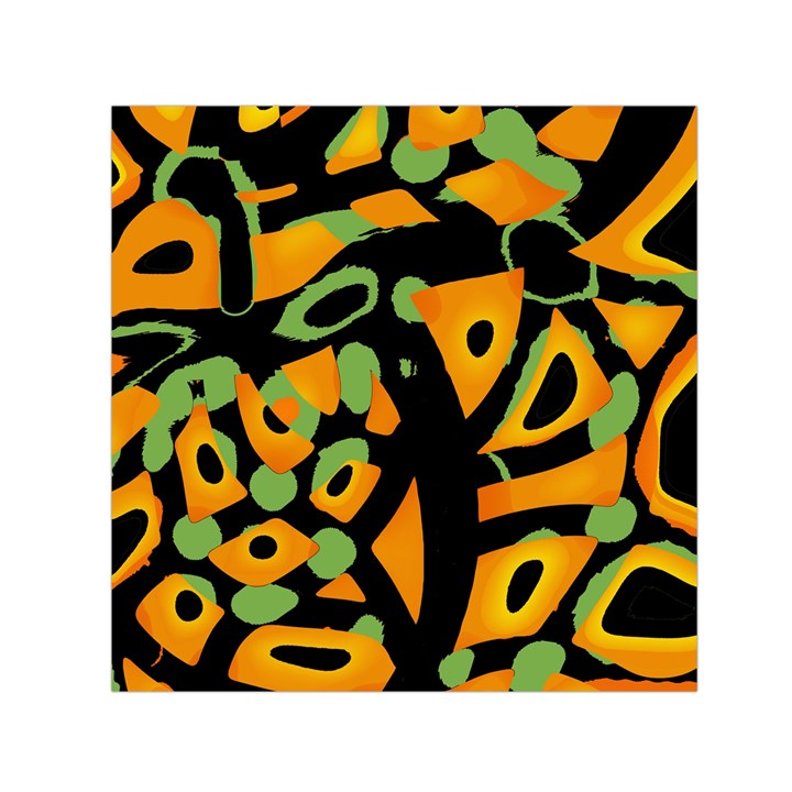 Abstract animal print Small Satin Scarf (Square)
