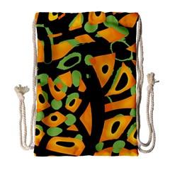 Abstract Animal Print Drawstring Bag (large)