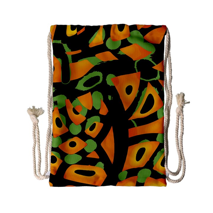 Abstract animal print Drawstring Bag (Small)