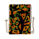 Abstract animal print Drawstring Bag (Small) Back