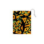 Abstract animal print Drawstring Pouches (XS)  Front
