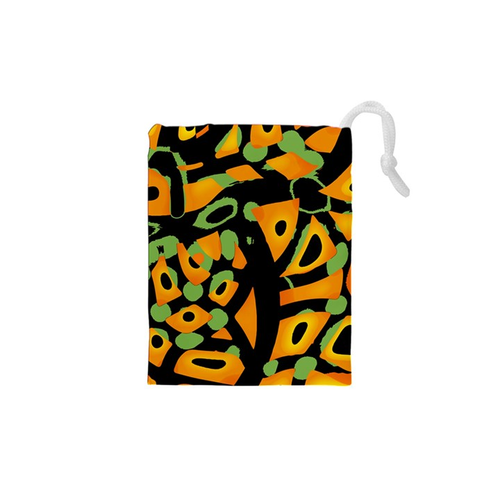 Abstract animal print Drawstring Pouches (XS)