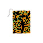 Abstract animal print Drawstring Pouches (XS)  Back