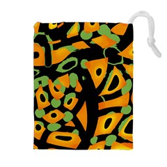 Abstract Animal Print Drawstring Pouches (extra Large)