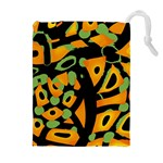 Abstract animal print Drawstring Pouches (Extra Large) Front