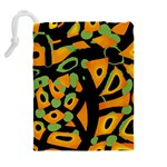 Abstract animal print Drawstring Pouches (Extra Large) Back