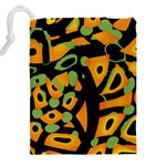 Abstract animal print Drawstring Pouches (XXL) Back