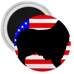 Australian Shepherd Silo Usa Flag 3  Magnets Front