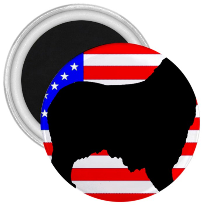 Australian Shepherd Silo Usa Flag 3  Magnets