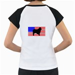 Australian Shepherd Silo Usa Flag Women s Cap Sleeve T Back