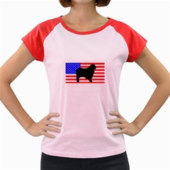 Australian Shepherd Silo Usa Flag Women s Cap Sleeve T-Shirt