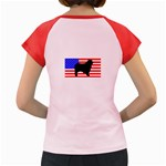 Australian Shepherd Silo Usa Flag Women s Cap Sleeve T-Shirt Back