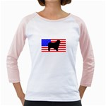Australian Shepherd Silo Usa Flag Girly Raglans Front