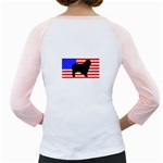 Australian Shepherd Silo Usa Flag Girly Raglans Back
