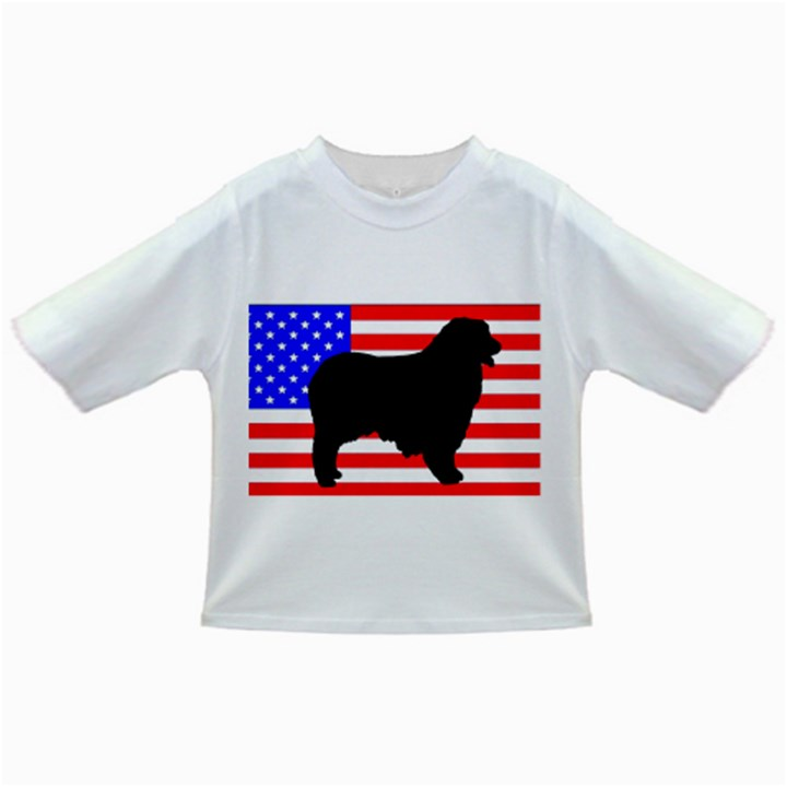 Australian Shepherd Silo Usa Flag Infant/Toddler T-Shirts