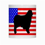 Australian Shepherd Silo Usa Flag White Mugs Center