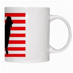 Australian Shepherd Silo Usa Flag White Mugs Right