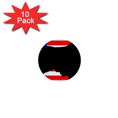Australian Shepherd Silo Usa Flag 1  Mini Buttons (10 pack)