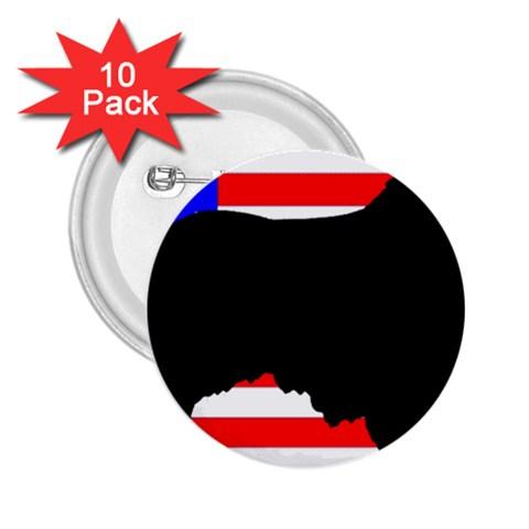 Australian Shepherd Silo Usa Flag 2.25  Buttons (10 pack)