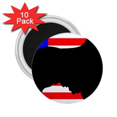 Australian Shepherd Silo Usa Flag 2.25  Magnets (10 pack)
