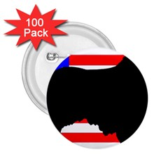 Australian Shepherd Silo Usa Flag 2.25  Buttons (100 pack)