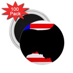 Australian Shepherd Silo Usa Flag 2.25  Magnets (100 pack)  Front