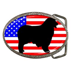 Australian Shepherd Silo Usa Flag Belt Buckles