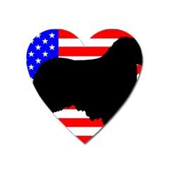 Australian Shepherd Silo Usa Flag Heart Magnet