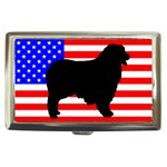 Australian Shepherd Silo Usa Flag Cigarette Money Cases Front
