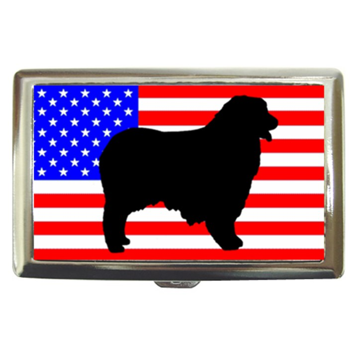 Australian Shepherd Silo Usa Flag Cigarette Money Cases