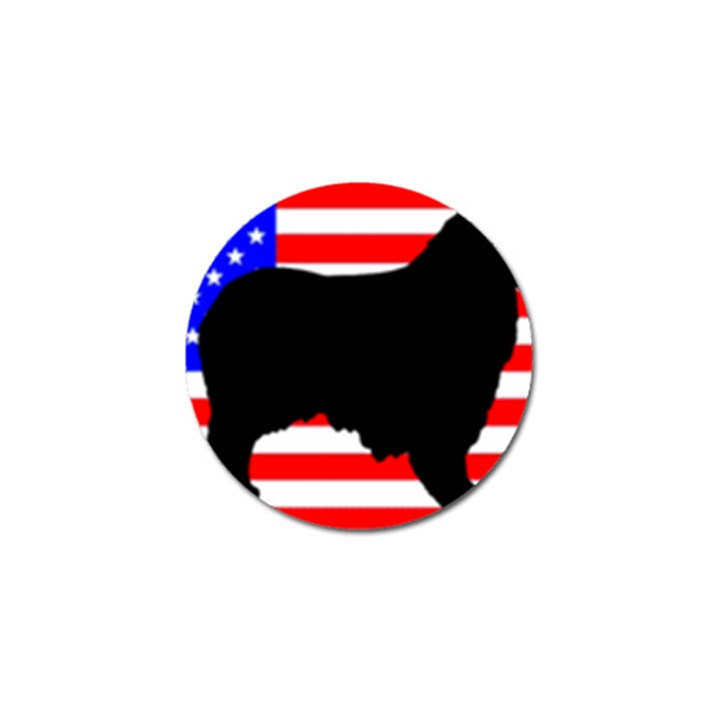 Australian Shepherd Silo Usa Flag Golf Ball Marker