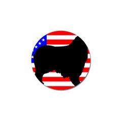 Australian Shepherd Silo Usa Flag Golf Ball Marker (10 pack)
