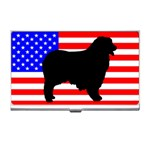 Australian Shepherd Silo Usa Flag Business Card Holders Front