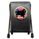 Australian Shepherd Silo Usa Flag Pen Holder Desk Clocks Front