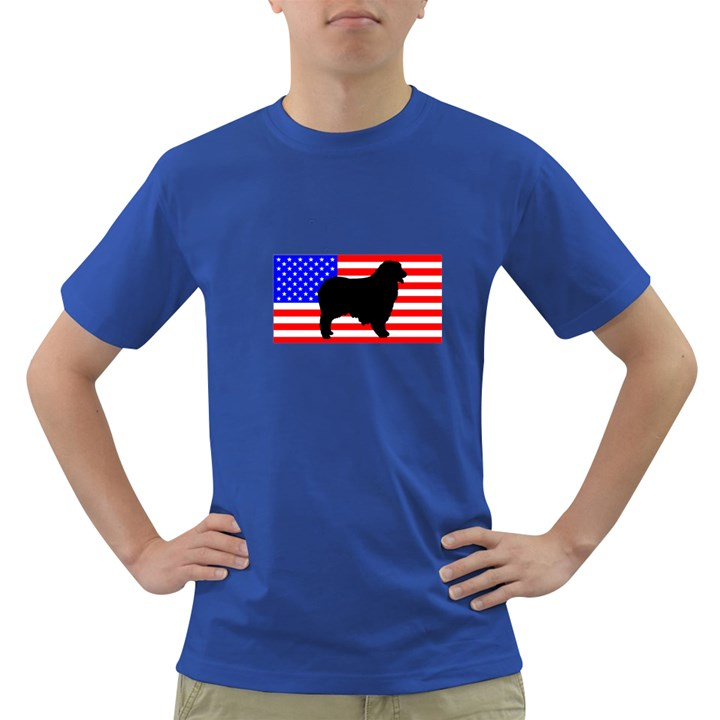 Australian Shepherd Silo Usa Flag Dark T-Shirt