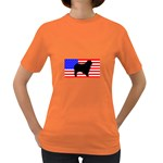 Australian Shepherd Silo Usa Flag Women s Dark T-Shirt Front