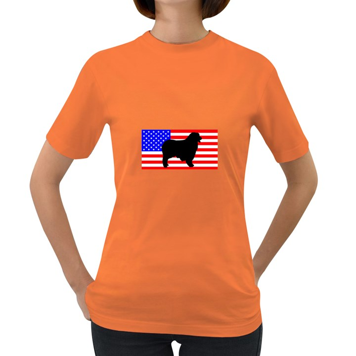 Australian Shepherd Silo Usa Flag Women s Dark T-Shirt