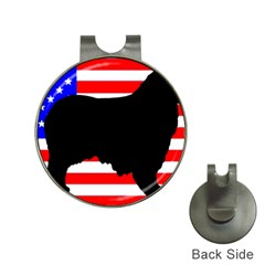 Australian Shepherd Silo Usa Flag Hat Clips with Golf Markers
